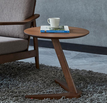 Solid wood home side table furniture round coffee table for living room small bedside table end table sofaside minimalist desk living room furniture china classic antique kang table rosewood rectangle small tea coffee desk solid wood teapoy customizable