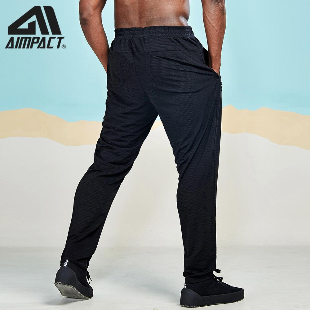 Aimpact Comforty Jogging Pants For Men 2019 New Mesh Cool Breathable Sporty Sweat Pants Active Loose Tracksuit Trousers  AM5063