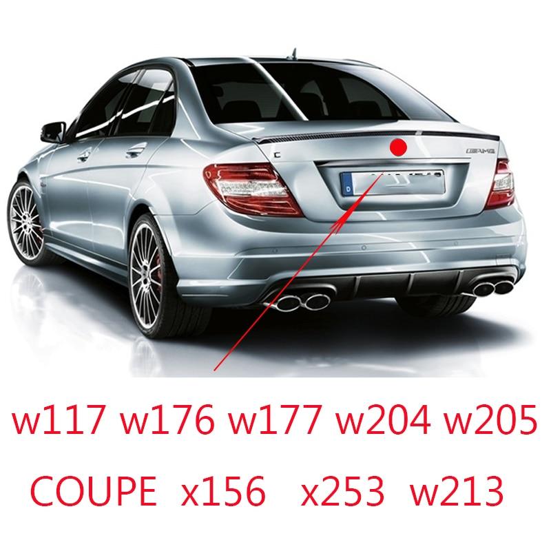 Для C E CLA GLC A Class Средний багажник 3 штырька Звездная эмблема автомобильные наклейки для W117 W176 w177 W205 204 W213 W253 W156 W218 w166 значок