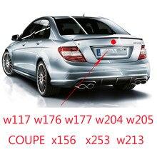 Para c e cla glc uma classe tronco médio 3 pinos estrela emblema adesivos de carro para w117 w176 w177 w205 204 w213 w253 w156 w218 w166 distintivo