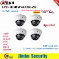 Dahua Ip kamera 4MP POE sternenlicht IPC HDBW4433R ZS 4 stücke/lot 2 7mm ~ 13 5mm motorisierte objektiv H 2 65 IR50M SD Karte slot IK1 IP67-in Überwachungskameras aus Sicherheit und Schutz bei