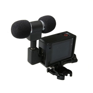 Image 2 - Profesional Mini Stereo Microphone + Standard Frame Case for Gopro Hero 4 3+ 3 USB to 3.5mm Mic Adapter Cable Cord Accessories