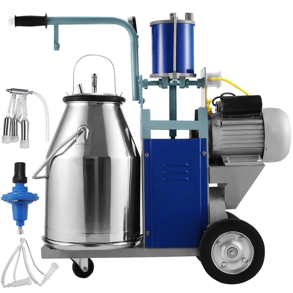 220V Профессиональный электрический доильный аппарат для коров/овец 25L