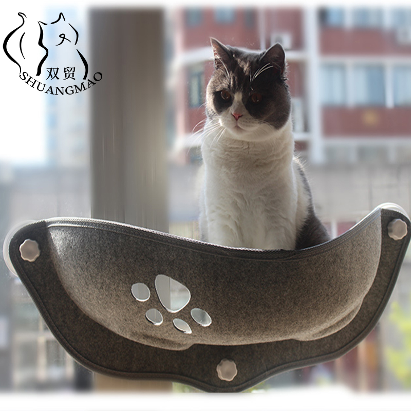 SHUANGMAO Hot Sale Pet Cat Hammock Beds Sunny Window Lounger Suction Hammocks Cats House shelf Comfortable Warm Ferret Pet Bed
