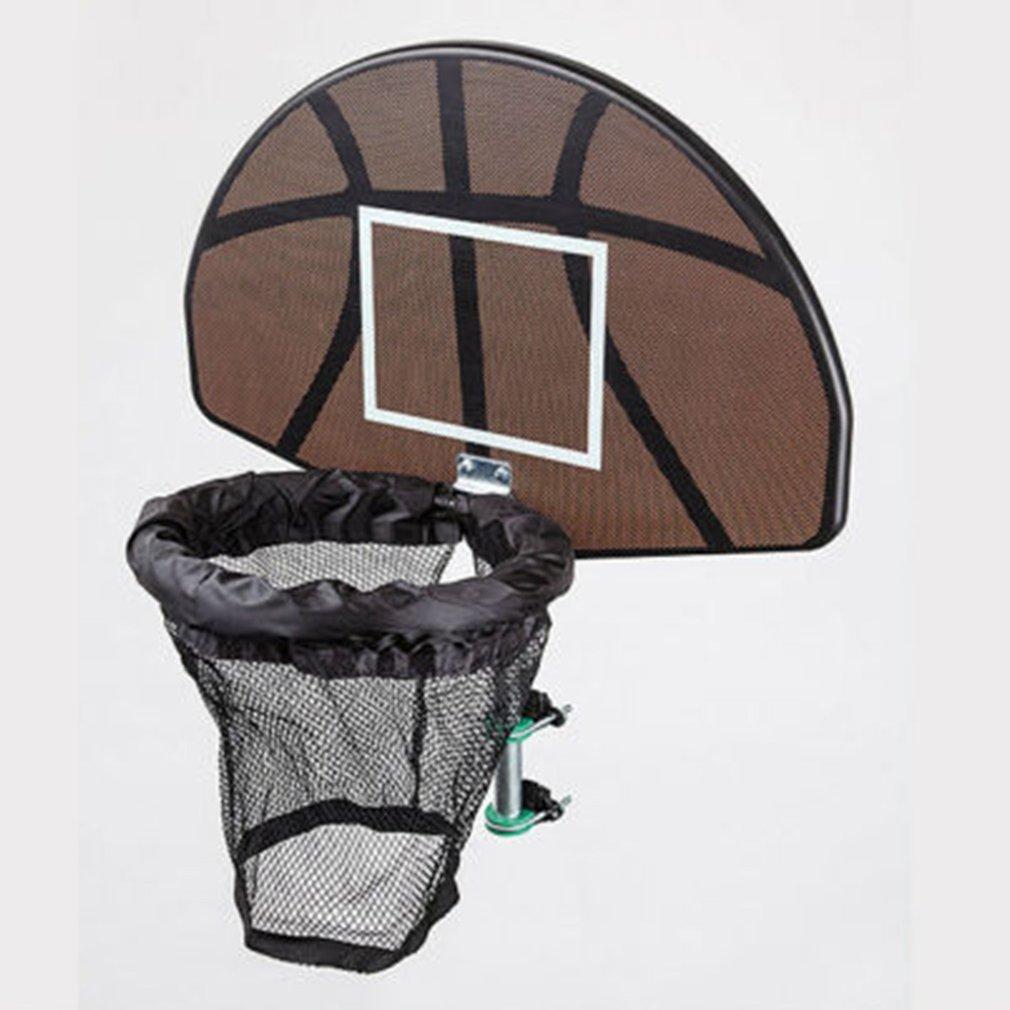 Trampoline Basketball Hoop Ring Backboard Ball Set Basketball Hoop Supplies Universal Design Durable Use Children Outdoor Toy