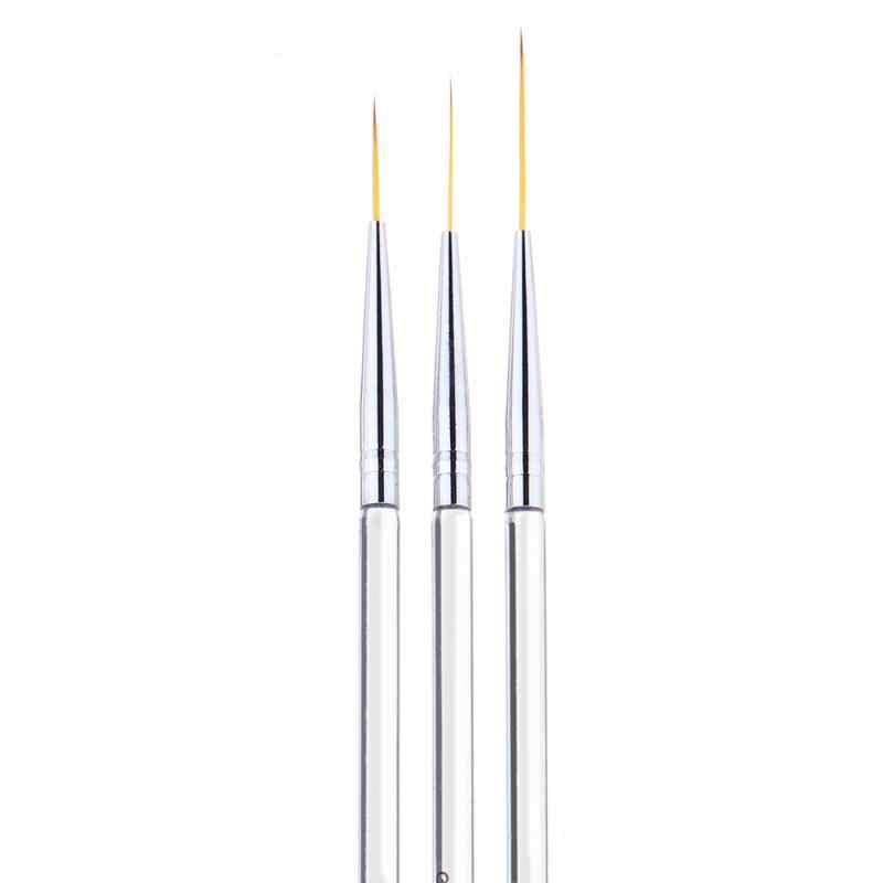 3 יח'\סט נייל אוניית ציור עט 3D טיפים אקריליק UV ג 'ל מברשת ציור פרח קו רשת צרפתית עיצוב ציפורניים אמנות עט מניקור כלים