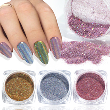 1g Chameleon Glitter Per Unghie Polvere Immersione Olografica Argento In Oro Rosa Shimmer Sfregamento Per Le Unghie Chromem Polvere Fai Da Te Manicure BE1028