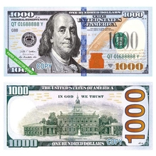 400 шт. бумажные Небесный ад банкноты валюта реквизит для денег предков доллар (US.1000) фэн-шуй день рождения заметок удачи