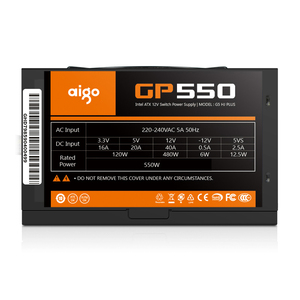 Image 2 - Блок питания Aigo gp550 max для настольного ПК, 750 Вт, PSU, PFC, тихий вентилятор, ATX, 24 контакта, 12 В, 80PLUS, бронзовый блок питания для игрового ПК SATA