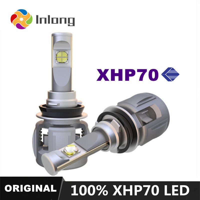 INLONG With Original Xhp70 Mini H7 LED H4 15600LM D4S H1 H8 H11 9005 D3S 9006
