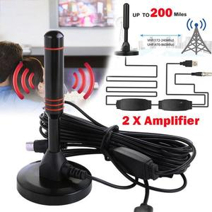 HD Digital Indoor Amplified TV Antenna 200 Miles Ultra HDTV With Amplifier VHF/UHF Quick Response Indoor Outdoor Aerial HD Set