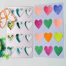 Персиковое сердце любовь фон металлическая высечка новый бумажный