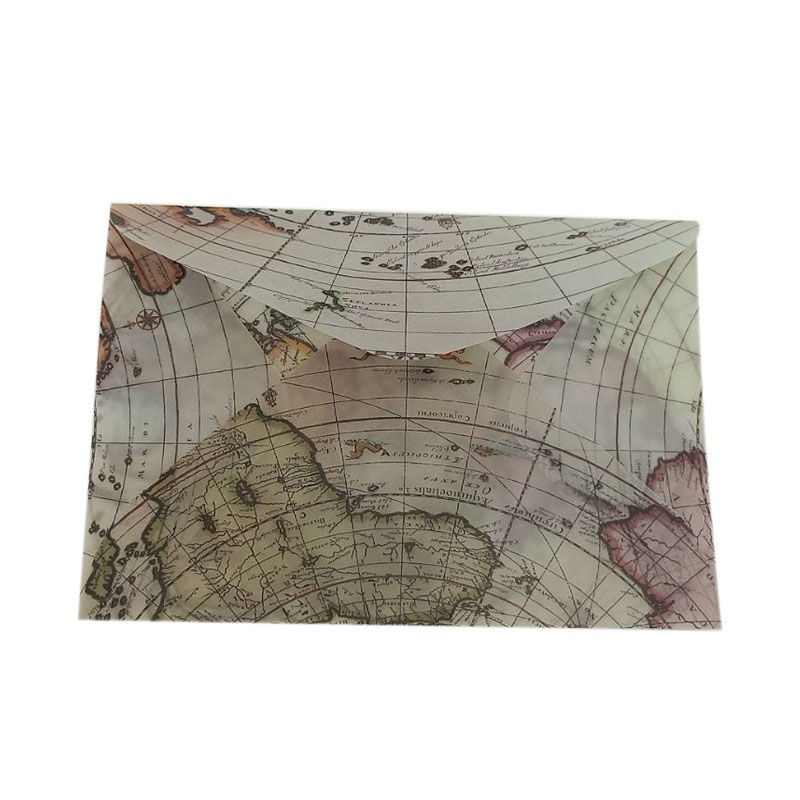 100pcs/lot 110*155mm Map Design Sulfuric Acid Paper Envelope Gift Letter Wholesale
