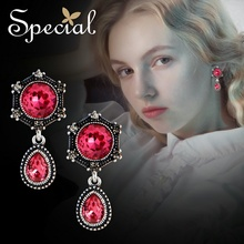 Special Europe and the United States 925 silver ear ring ear nail ear pendant veiled princess a veiled deception