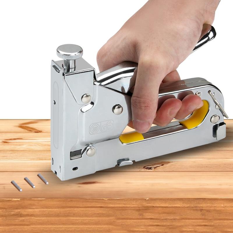 Multitool Nail Stapler Gun Furniture Stapler for Wood Door Upholstery Framing Rivet Gun Kit Nailers Rivet Tool Stationery(China)