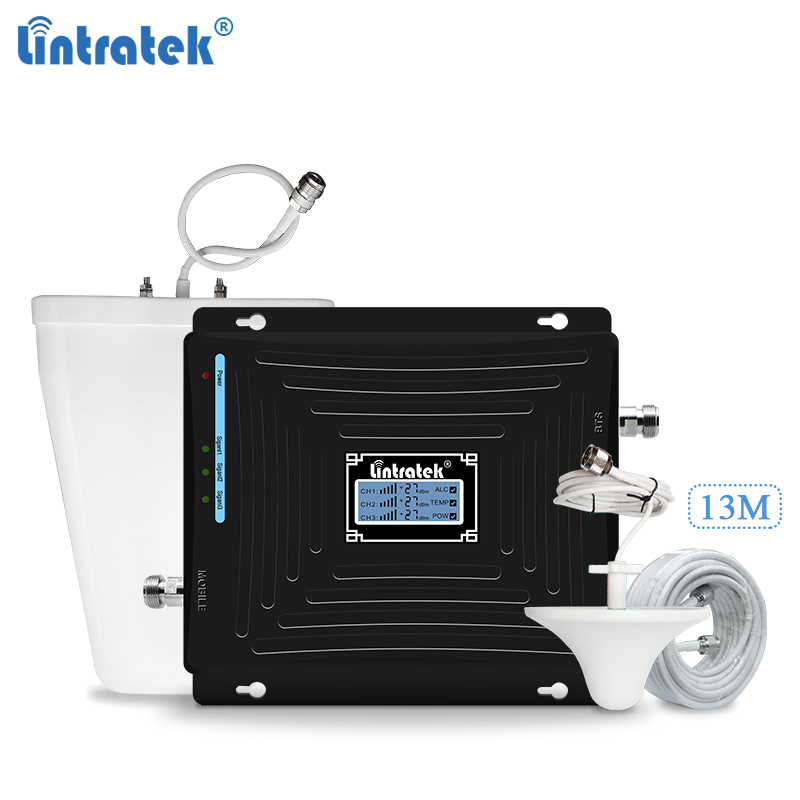 Lintratek Triband Repeater 900 1800 2100Mhz Signal Booster GSM 2G 3G 4G Repeater 4G 1800 Booster Mobile Signal Amplifier GDW #5