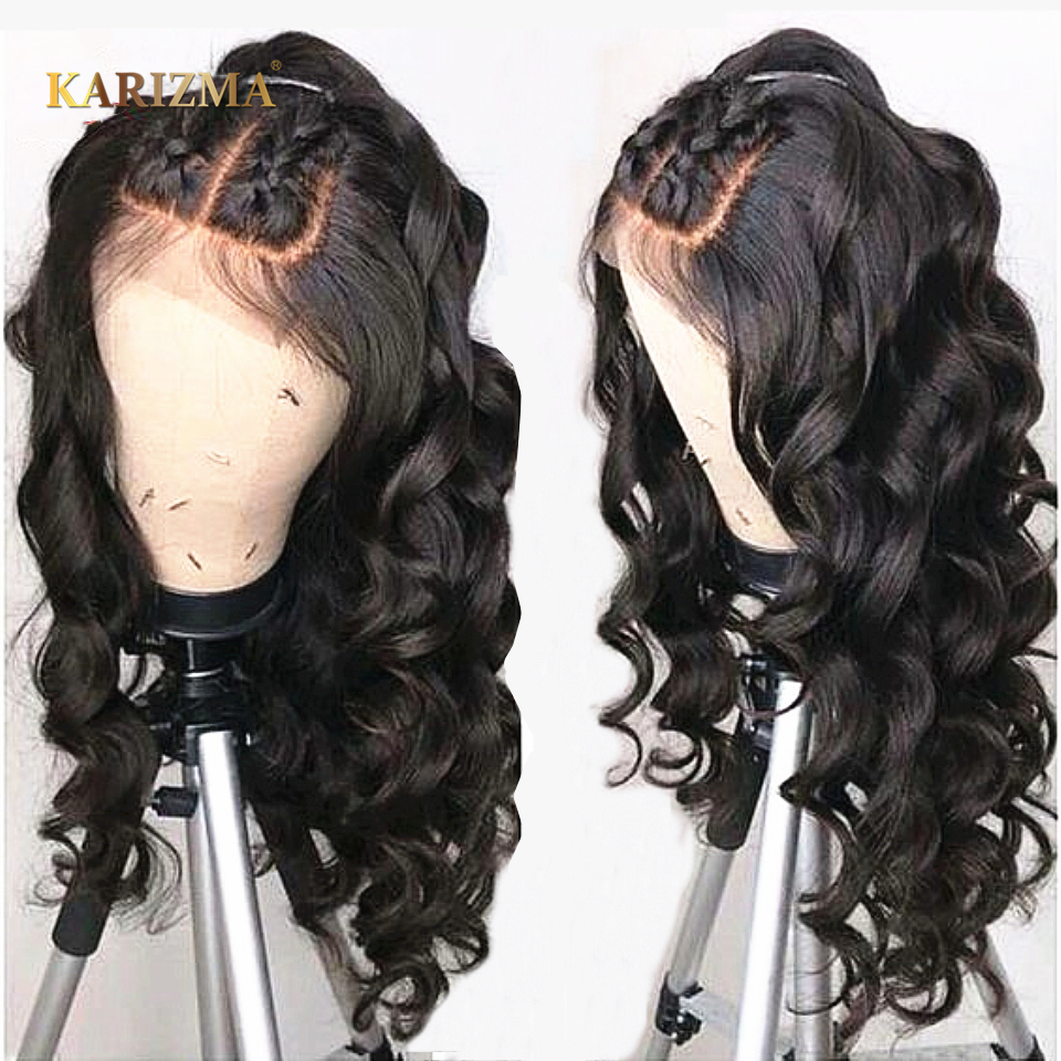 13x6 Lace Frontal Human Hair Wigs For Black Women 150 Density Brazilian Loose Wave Lace Frontal Wigs Pre Plucked Baby Hair