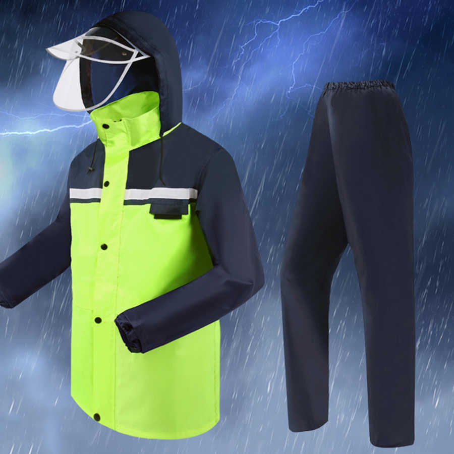 Impermeable para bicicleta al aire libre Poncho verde impermeable para Hombre, motocicleta, para Hombre, Abrigos para Hombre Gabardina Mujer, impermeable DD6YY
