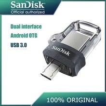 Sandisk – clé usb 100% SDDD3 3.0 originale, support à mémoire de 16gb 32gb 64gb 128 gb, lecteur flash haute vitesse, 150 mo/s, double OTG