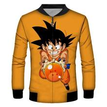 Zootop Bear Anime Dragon Ball Goku Jaket Bisbol Mantel Cosplay Unisex Kostum Lengan Panjang Kasual Pria Hip Hop mantel(China)
