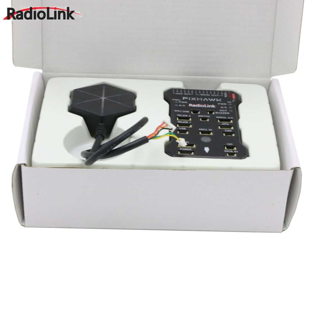 Radiolink Pixhawk PIX APM Flight Controller with M8N GPS Buzzer 4G SD Card Telemetry Module For RC Drone image