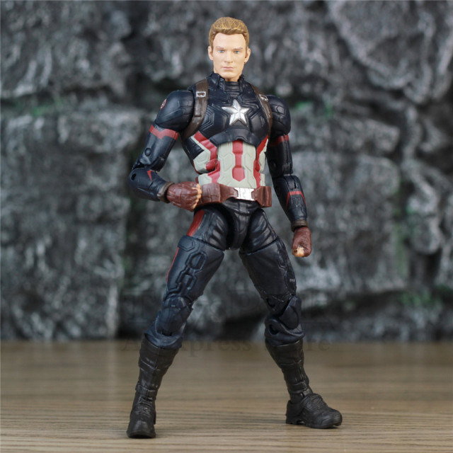 Avengers Captain America 6″ Action Figure KO's Marvel Legends Custom Steven Rogers 1/12 1:12 Head Sunglasses Endgame Doll Toys