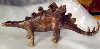 China ancient fine carving brass coffee wild Dinosaur animal statues gifts фото
