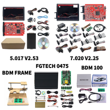 FGTECH Galletto 4 V54 BDM Frame With 22PCS Adapter K V5.017 KT V7.020 OBD2 Manager Tuning Kit Kt BDM100 ECU Programmer
