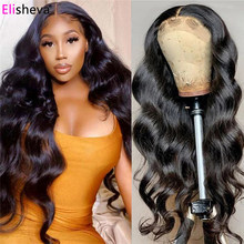 30Inch Brazilian Body Wave T Part Lace Wig Bodywave 13X1+4x1 Middle Part Lace Wigs Pre Plucked Human Hair Body Wave Wig Remy