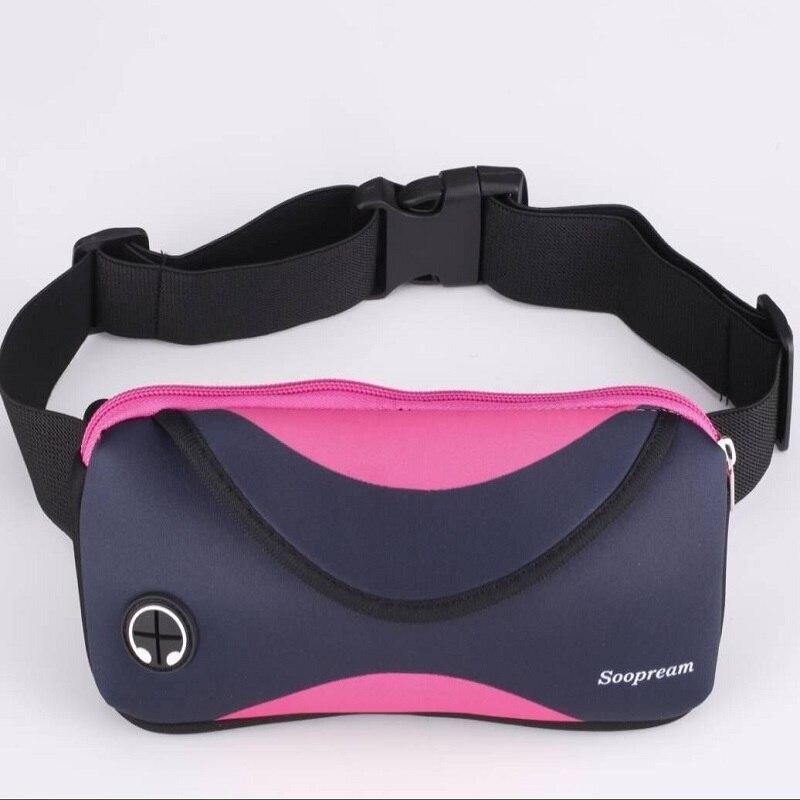 new 2018 waist packs black neoprene waterproof fanny pack pillow belt bag for women wallet money men