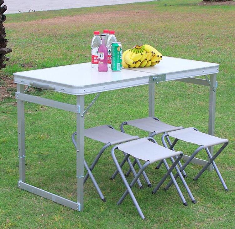 Siège de Table pliant portatif Ultra-léger imperméable d'alliage d'aluminium de Table de pique-nique de chaise de Table de Camping en plein air