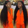Кудрявые парики, плотность 150%, 13x4, кудрявые передние парики из человеческих волос на сетке для женщин, предварительно выщипанные парики с гл...