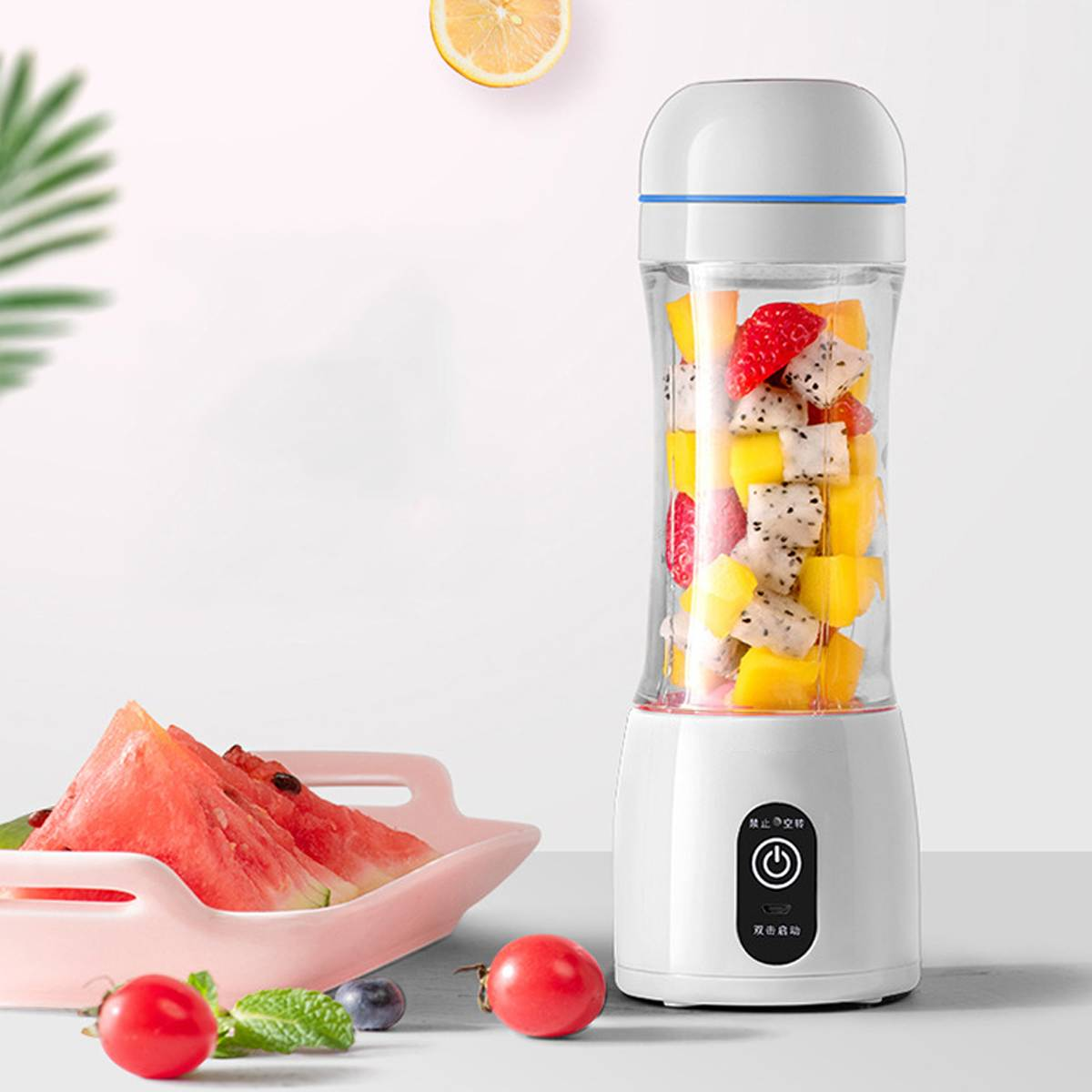 400ml Portable Juicer Electric USB Rechargeable Smoothie Machine Mixer Mini Juice Cup Maker Fast  Food Processor