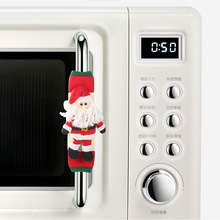 Christmas microwave oven gloves protective cover stereo  refrigerator decorations grill glove mitts