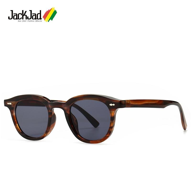 Солнцезащитные очки JackJad 2020, модные, крутые, винтажные, круглые, стильные, солнцезащитные очки с оттенком, популярные брендовые дизайнерские...
