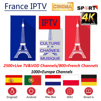 French IPTV 500+local Channels and 2000+ VODs France Arabic Germany IPTV Subscription Adult Sports For M3U Android Box Smart TV
