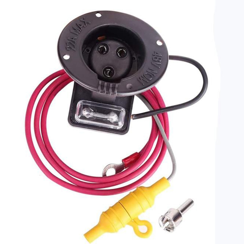 for Club Car DS 48V DC Receptacle or Powerdrive Charger Receptacle Fits Golf Cart 1018949-01,101802101,1017968-01