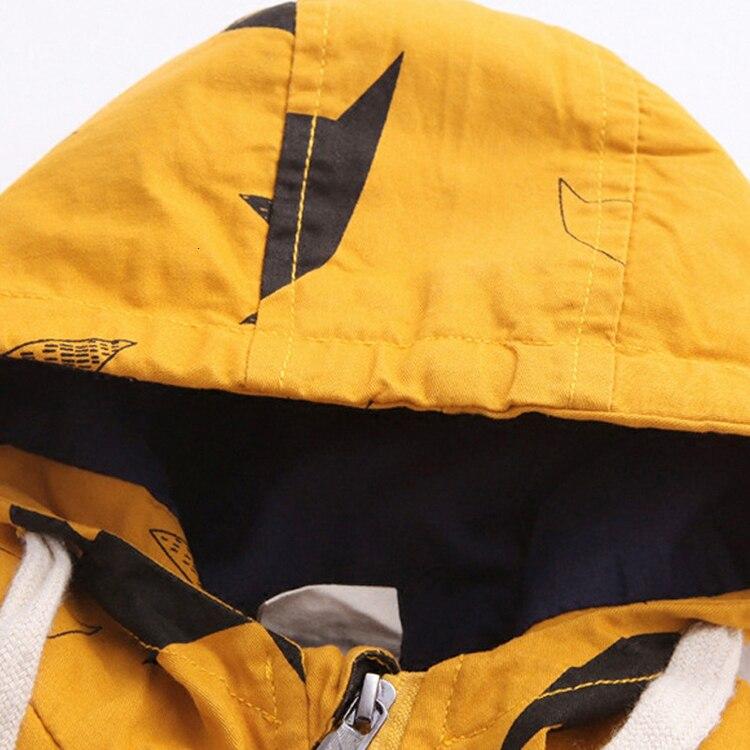 Benemaker Winter Fleece Jackets For Boy Trench Children's Clothing 2-10Y Hooded Warm Outerwear Windbreaker Baby Kids Coats JH019 10