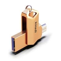 עבור מחשב נייד 2 in1 מתכת OTG USB 2.0 64GB כונן פלאש 32GB זיכרון אחסון Stick U דיסק עבור טלפון OTG Pen Drive עבור מחשב נייד-רוז גולד (5)