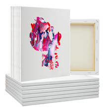 Ensemble de peinture acrylique à l'huile, toile vierge d'artiste, cadre uni, panneaux de peinture acrylique étirés, 5/9 pièces