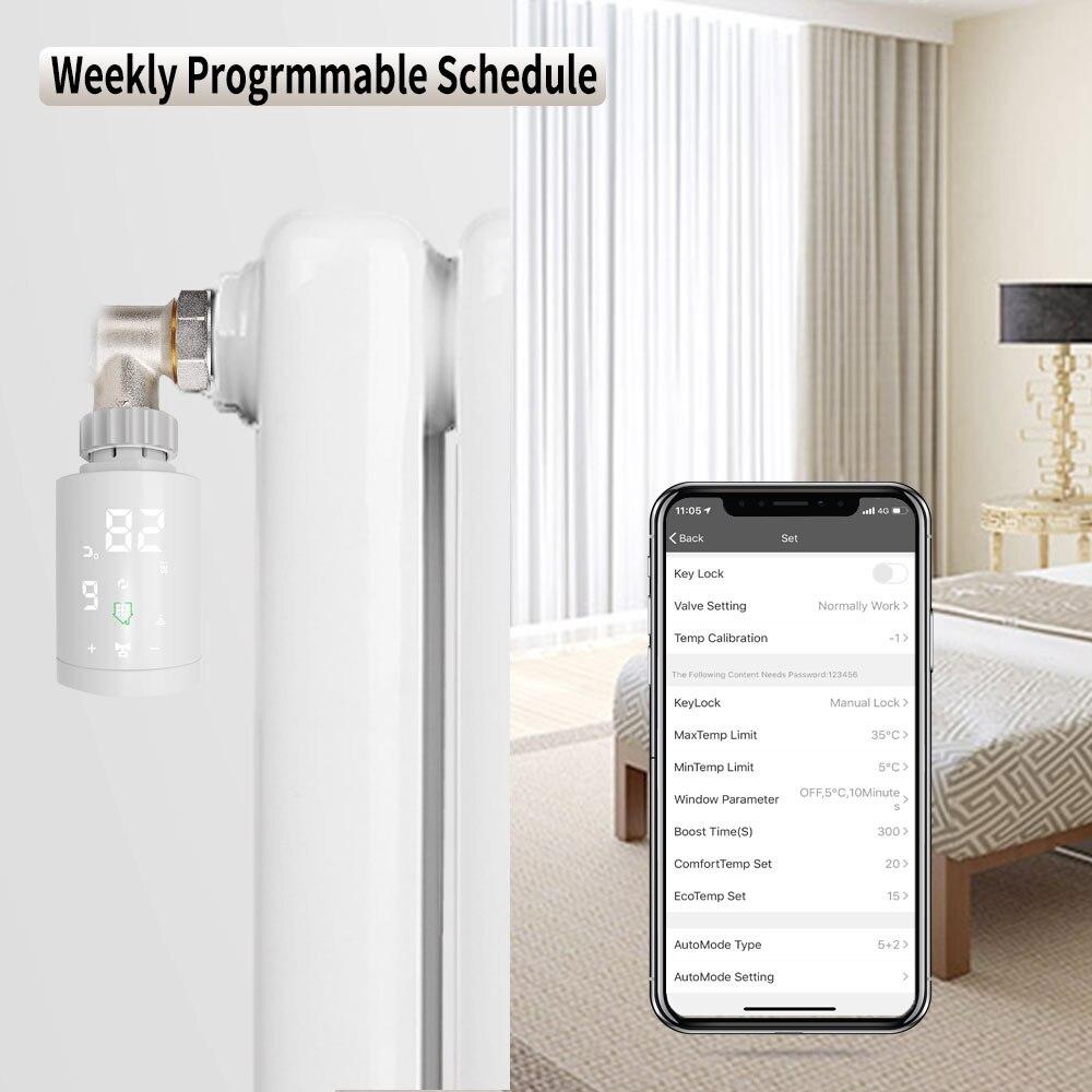TUYA Zigbee Thermostat Valve Programmable Timer Thermostatic Radiator Thermostat For Heater Radiator Room Temperature Controllin