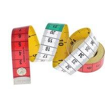 1 rolo de 1.5 metros botão de medição fita ferramenta de medição roupas cintura busto medição tailor's costura ferramentas