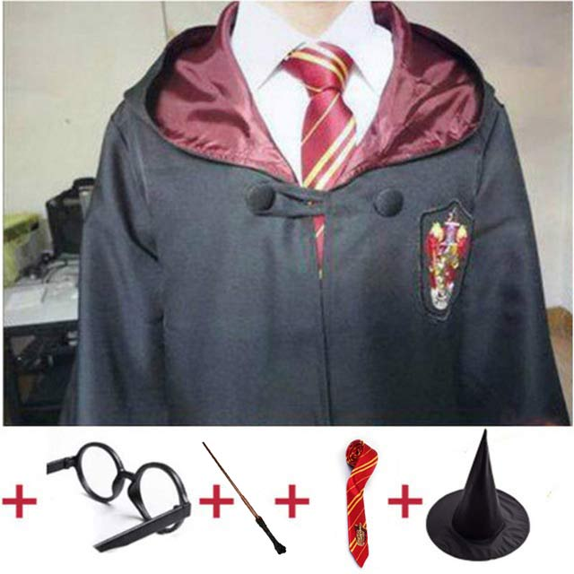 Outfits Potter Magic Cloak Potter Robe Cape Suit Hogwarts Uniform Cosplay Ravenclaw Gryffindor Cosplay Costumes For Kids Adults