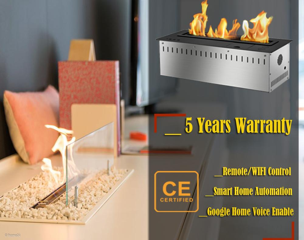 On Sale 60'' Long Wifi Real Fire Automatic Intelligent Smart Ethanol Bio Kamin