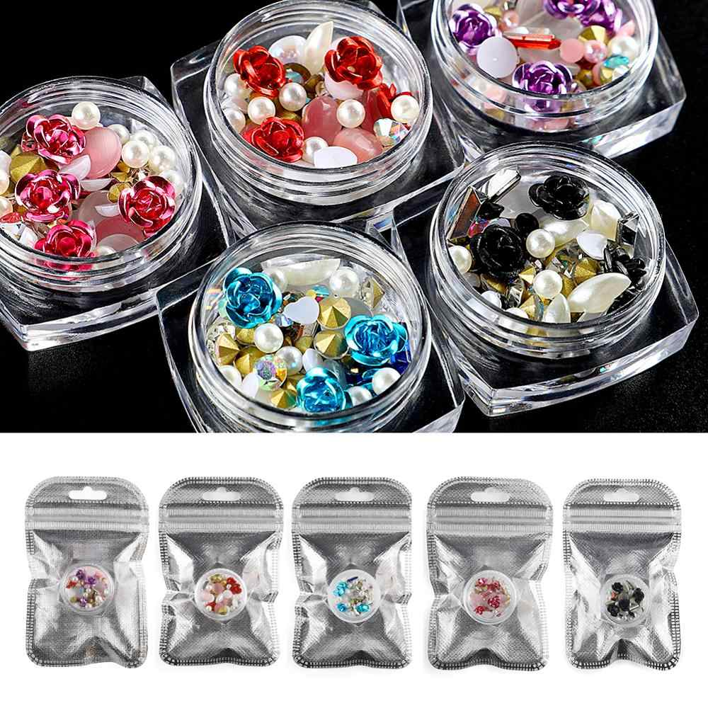 COSCELIA Nail Accessories Rhinestone For Nail Art Tool Stones Crystal Colorful 3D Nail Art Decoration For Nails