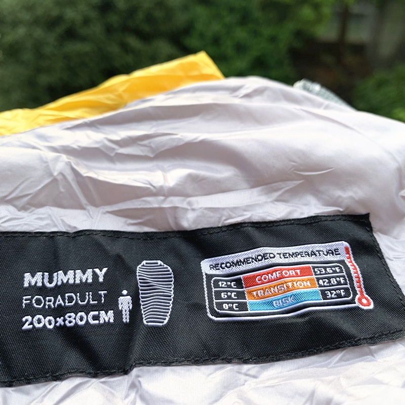 Naturetrekking CW300 sac de couchage de Camping en duvet d'oie d'hiver léger imperméable à l'eau sac de couchage de randonnée Compact - 4