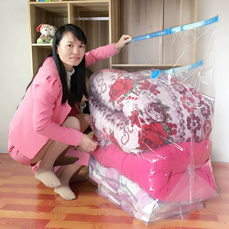 Cube Vacuum Storage Bags Jumbo Extra Large Compressed Space Saver Bags for Pillows for Comforter Work with All Cleaner(China)
