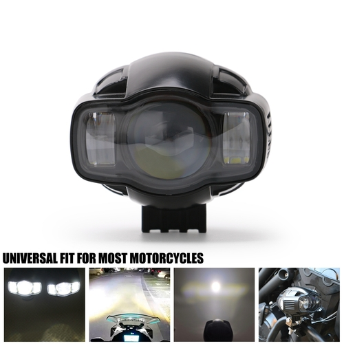 Motorcycle Fog light Universal 22-40mm IP65 <font><b>LED</b></font> Motorcycle <font><b>Headlight</b></font> With USB Charger For <font><b>YAMAHA</b></font> HONDA SUZUKU BMW <font><b>R1</b></font> R6 GSXR CBR image