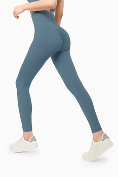 High Quality Scrunch Booty Fitness Athletic Leggings Women Soft Nylon Plain Wrokout Sport Training Tights Pants XS-XL Fitness & Body Building