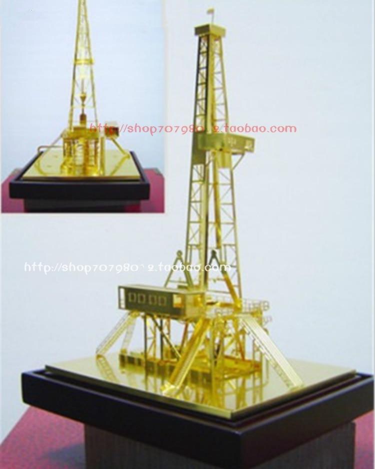 Static Model Of Derrick Platform For Derrick Model Oilfield In Pure Copper Plated Zhongyuan Oilfield